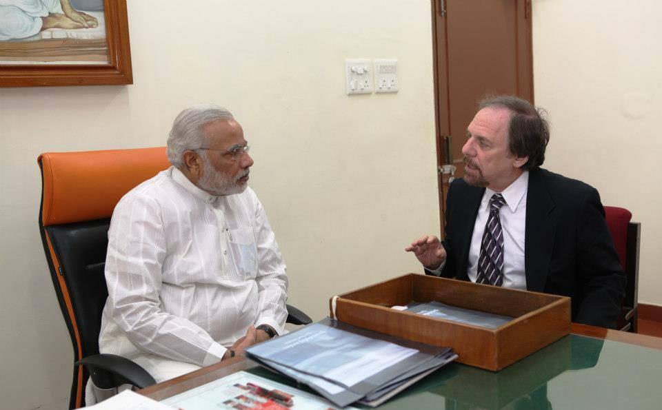 Richard Benkin with Narendra Modi